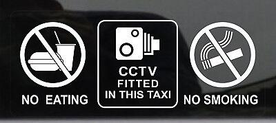 Taxi Camión Furgoneta Camión Cámara De Seguridad 6 X Cctv ventana Stickers-Coche Taxi Casa signos