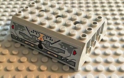 LEGO Light Bluish Gray 8x6x2 Millennium Falcon Circuitry Double Slope Piece