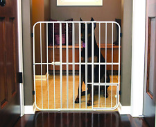 extra tall metal expandable pet gate door dog cat fence security safety no tax