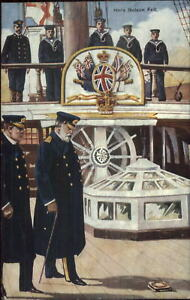 British-Navy-Sailors-on-HMS-Victory-Here-Nelson-Fell-c1910-Postcard-4