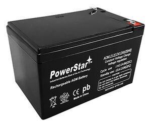 powerstar kid trax 12 volt 12 ah rechargeable replacement battery 12v 12ah ebay. Black Bedroom Furniture Sets. Home Design Ideas