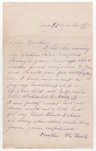 1879 Brooklyn New York Ville Manuscrit Lettre Hall Frère Fraternelle Famille Nyc 8adWtheZ-09153310-165142076