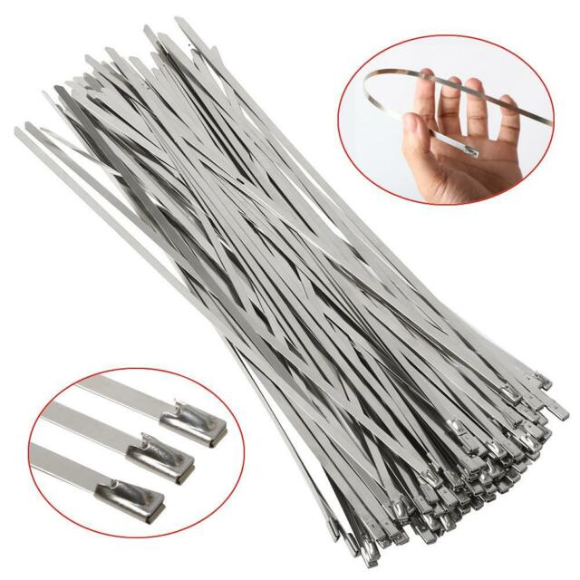 100x Strong Stainless Steel Marine Grade Metal Cable Ties 300mm   eBay