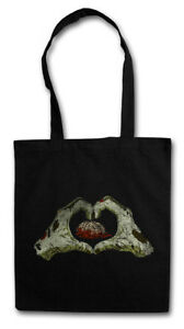 ZOMBIE HEART STOFFTASCHE EINKAUFSTASCHE Living Dead The Walking Fun Zombies