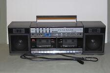 "VINTAGE PANASONIC RX-CW50 AM FM STEREO RADIO DUAL CASSETTE BOOMBOX RADIO 23"""