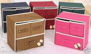 3-in-1-Multipurpose-Foldable-Drawer-Organizer-Closet-Divider-Storage-Box-Pink