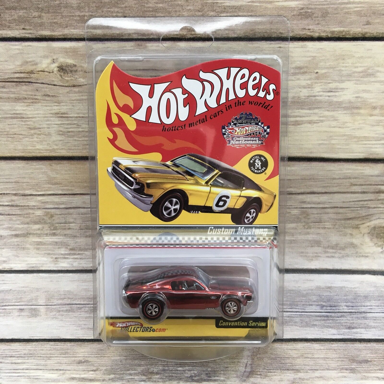 Hot Wheels 2006 Convention Series Custom Mustang Real Riders limited 07221 10000