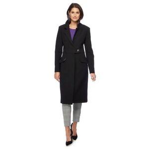 best cheap no sale tax buy cheap Details about Principles Ben De Lisi Long Pencil Fit Black Winter City  Office Coat UK 8 - 18