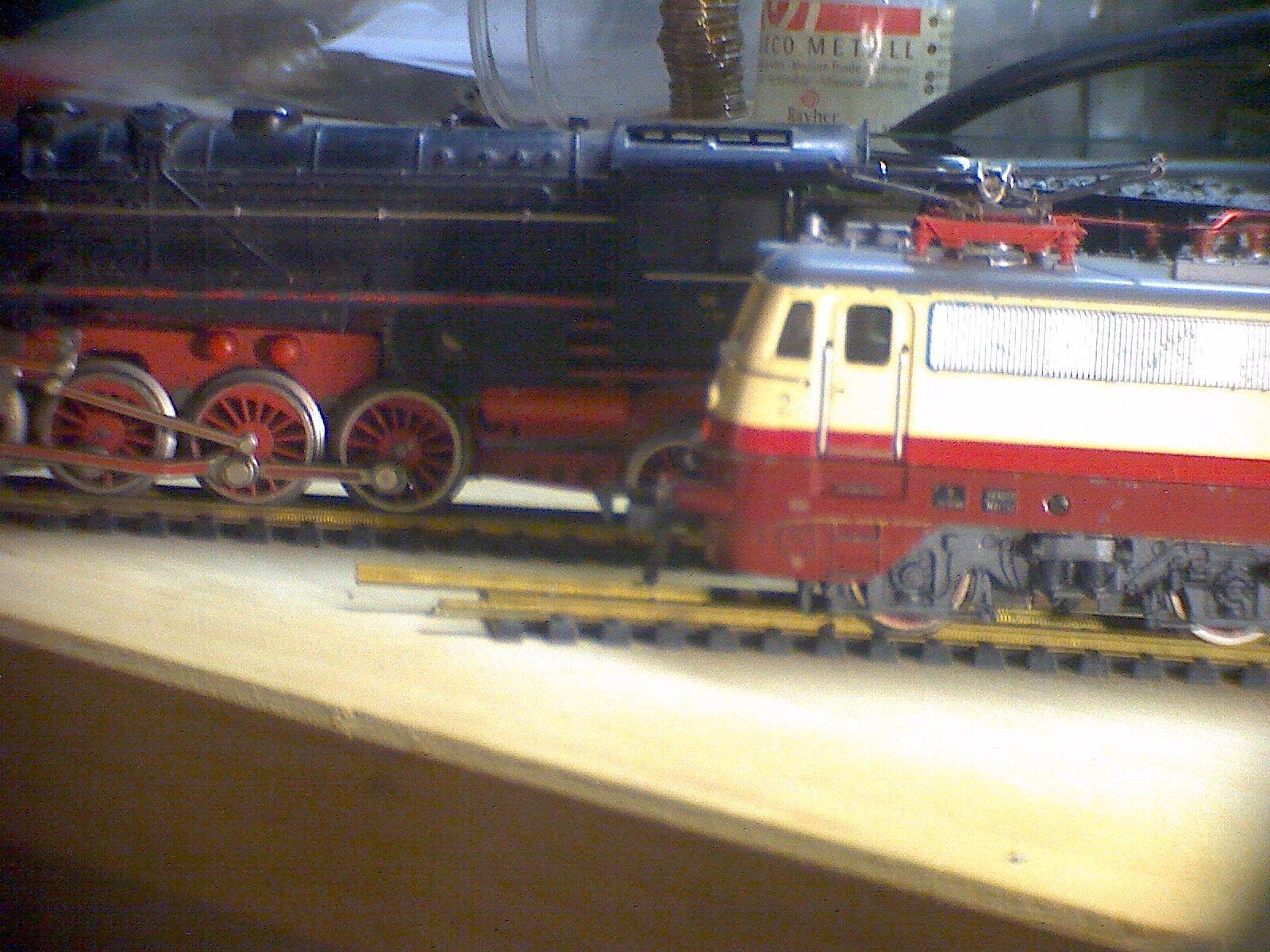 Fleischmann h0. DB máquina de vapor 41-1364 e-Lok 11 1308, vías y wagons kellerfund