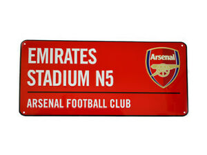 Discipliné Arsenal Fc Gunners Football Club Road Red Metal Street Sign Emirates Stadium N5 Les Consommateurs D'Abord