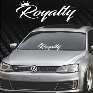 """Sticker 8x24/"""" tuner boost euro funny jdm boost Royalty Windshield Banner Decal"""