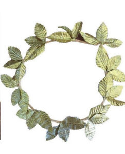 New-Adults-Womens-Mens-Golden-Leaves-Wreath-Party-Costume-Headband-Dress-Up