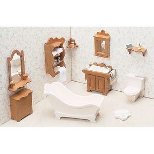 Incroyable Image Is Loading Greenleaf 72G 04 Dollhouse Furniture Kit Bathroom NEW