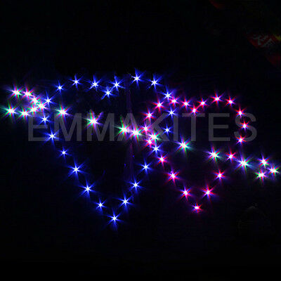 FREE SHIPPING 11ft Arrow through Two Hearts 180 Led Light Single Line Delta Kite