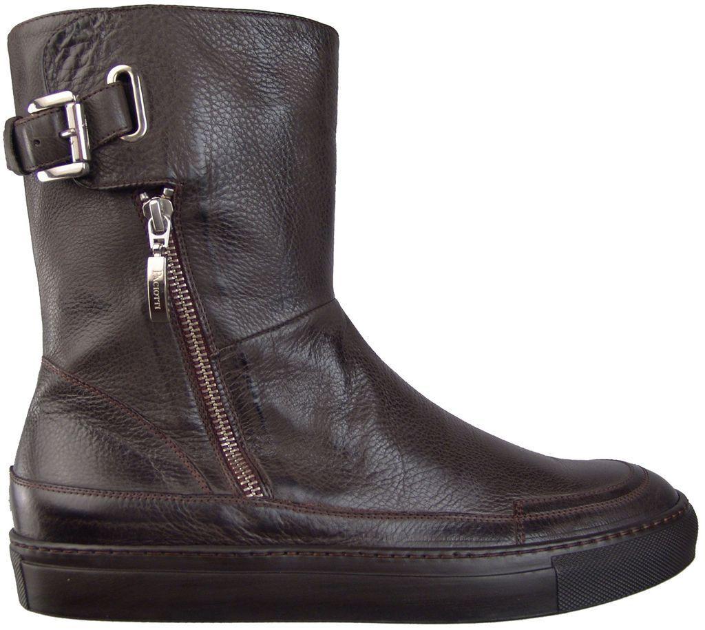 750.00 CESARE PACIOTTI FASHION LEATHER stivali US 8 ITALIAN DESIGNER MENS scarpe