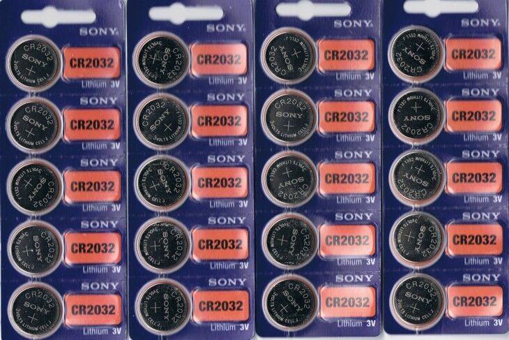 20 New SONY CR2032 CR 2032 Lithium 3v Coin Battery Australia Stock Fast Shipping