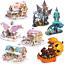 miniatura 1 - Puzzle 3D Natale fai da te casa modello assemblaggio carta Toy Cartoon Home Puzzle UK