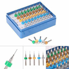 50Pcs/Set Tungsten Steel HSS Carbide Micro PCB Drill Bits 0.25mm to 0.45mm