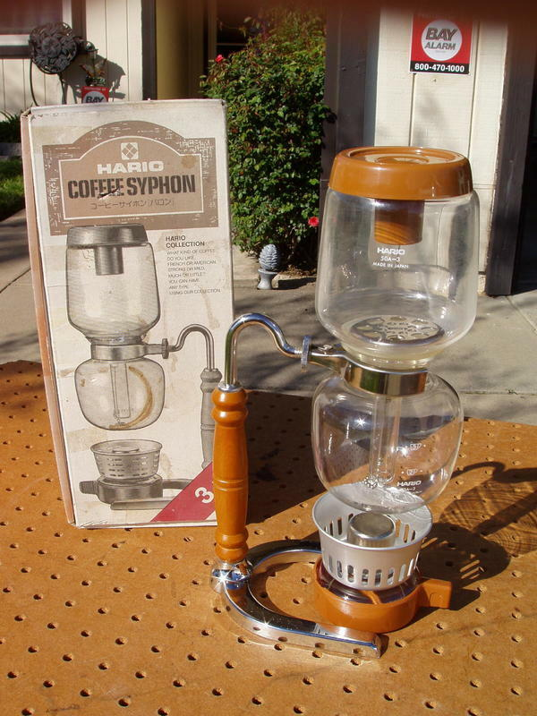 VINTAGE HARIO 50A-3 COFFEE SYPHON BARON 3 CUPS ORIGINAL BOX VERY GOOD CONDITION