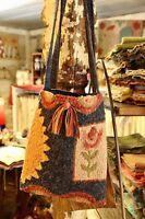 Primitive Rug Hooking Kit On Linen spring Boho Bag