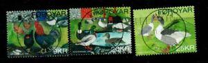 Faroe Islands Sc 488-90 2007 Domesticated Birds stamp set used