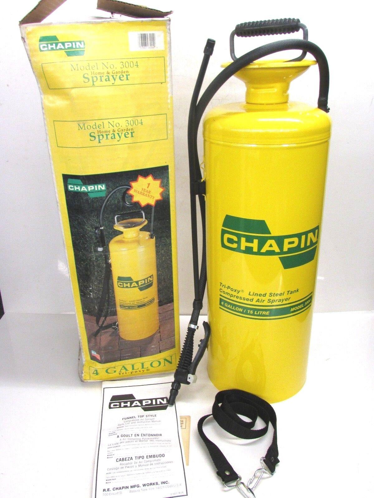 nuevo  Chapin 4 GAL (approx. 15.14 L) Tri-Poxy Tanque De Acero Recubierto Pulverizador, Embudo súperior, 3004