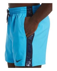 Nike 5 VOLLEY banda Costume da Bagno Shorts pantaloncini Azzurro con tasche