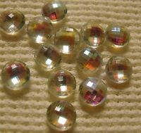 Gorgeous Vintage Glass Faceted Stones