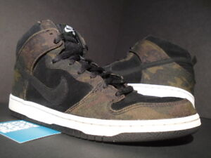 newest 81466 aabf6 Image is loading NIKE-DUNK-HIGH-PRO-SB-ARMY-CAMO-IGUANA-