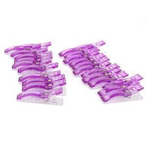 Popular-24-Jumbo-Wonder-Clips-Fabric-Clamps-for-Craft-Sewing-Quilting-Purple-ATA