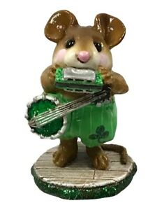 Wee-Forest-Folk-One-Mouse-Band-Limited-Edition-St-Patrick-039-s-Day-WFF-Box