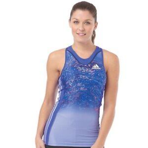 adidas  Adizero 3-Stripe Running Support Vest Night Flash BNWT UK 10 EU 36