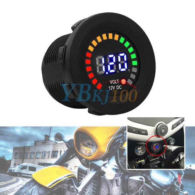 LED Digital Display DC 12 Car Boat Gauge Auto ATV Voltmeter Battery Monitor AF