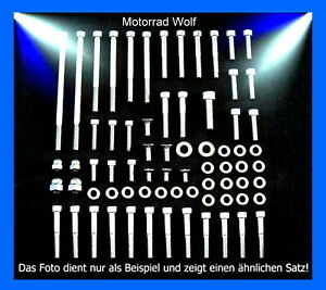 Motorschraubensatz-Yamaha-XJ-650-V2A-Innensechskant-Edelstahl-Schrauben-Motor