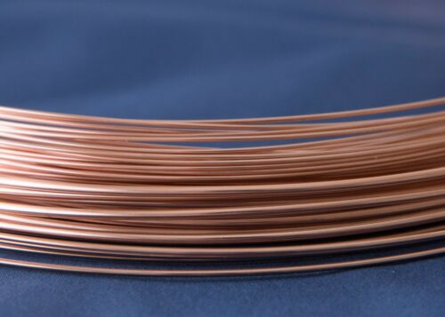 0.25mm to 1.3mm Gold-Filled Round Wire 14//20 Pink Rose Half Hard