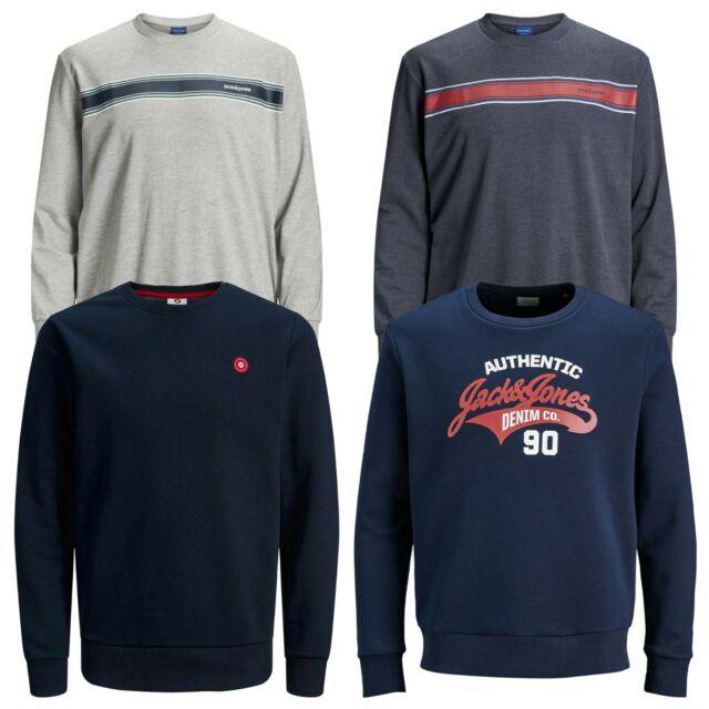 Mens New Jack /& Jones Sweater  Crew Neck Long Sleeve In Navy Blazer  All Sizes