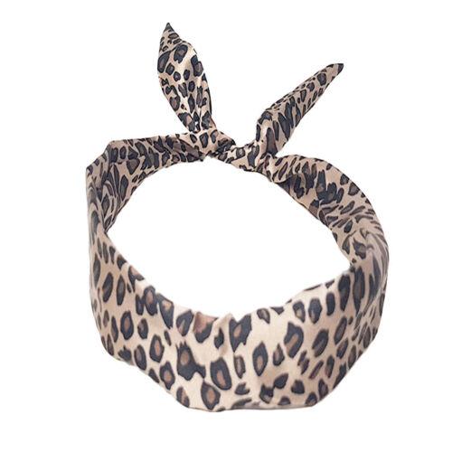 ABAV Drahthaarband Stirnband Kopfschmuck Haarband Damen Leopard Braun