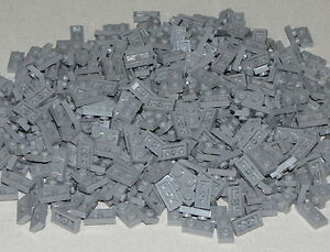 Lego-Lot-of-500-New-Light-Bluish-Gray-Plates-1-x-2-Dot-Parts