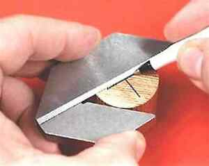 "Center square round bar  square  suit up to 75mm (3"") finds center of bar"
