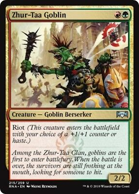 4x FOIL Zhur-Taa Goblin Near Mint Magic modern legacy Ravnica Allegiance RNA
