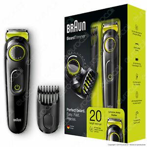 Braun-Regolabarba-BT3021-Rasoio-Elettrico-per-Barba-e-Capelli-senza-Fili
