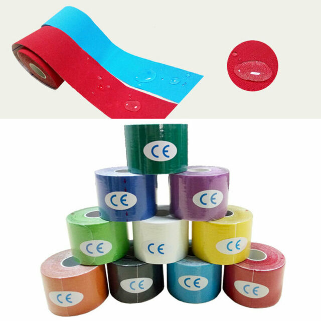 5M /Roll Elastic Kinesiology Sports Tape Muscle Pain Care Therapeutic 2.5/5cm