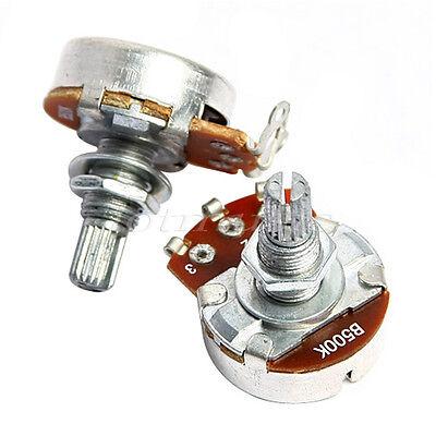 2pcs chrome 500K-ohm Volume Potentiometer high quality guitar parts,go!!go!!