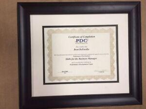 """1.5"""" BLACK BEADED Certificate Frame"""