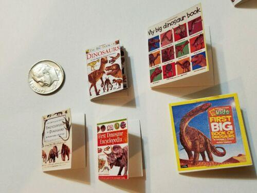 Miniature Dollhouse Action Figure  book Barbie 1//12 Scale Dinosaur Book 4