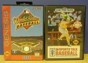 Sports Talk + World Series Baseball Sega Genesis Working + Tested - 2 Game Lot