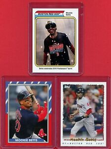 2018-TOPPS-THROWBACK-THURSDAY-TBT-MOOKIE-BETTS-3-CARD-SHORT-PRINT-LOT-RED-SOX