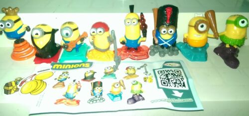 compl yellow Dracula variant Minions Russia Kinder 2015 set with all Bpz.