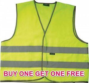 Hi-viz Réfléchissant Fluorescent Vest Gilet De Sécurité Travail/fun Veste Adulte Xl B1gof-afficher Le Titre D'origine
