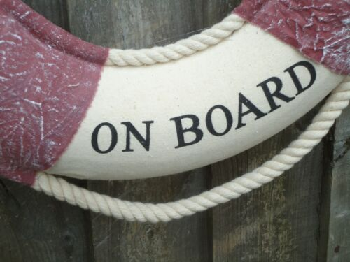 Ship Lifebelt 46 CM Welcome On board with Shells//Boat Life Buoy Ring Belt